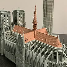 Architectural Figurine Printed Part